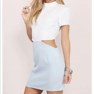 On Your Side mini dress with cutout